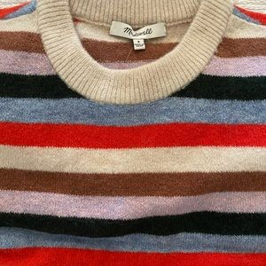 Madewell Striped James Pullover Sweater